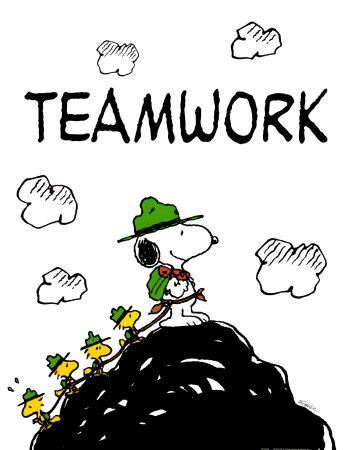 """Teamwork"", Peanuts - Charles Schulz 1922 - 2000"